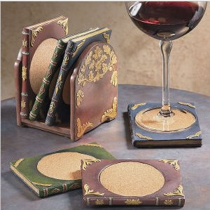 book themed coasters