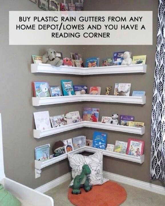 Gutters as shelves