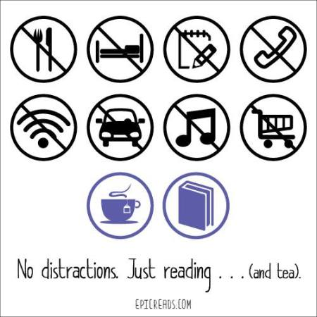 No Distractions Graphic