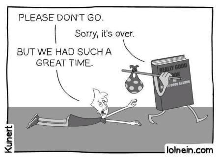 Bookish cartoon