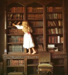 Girl at Bookshelf image