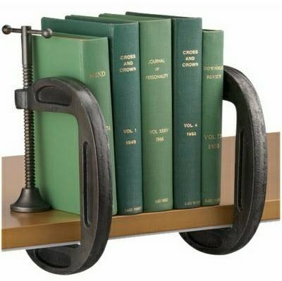 Industrial vise bookends