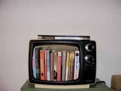 Books inside a tv