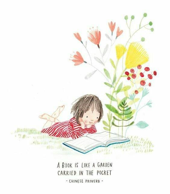 Book is like a garden sentiment