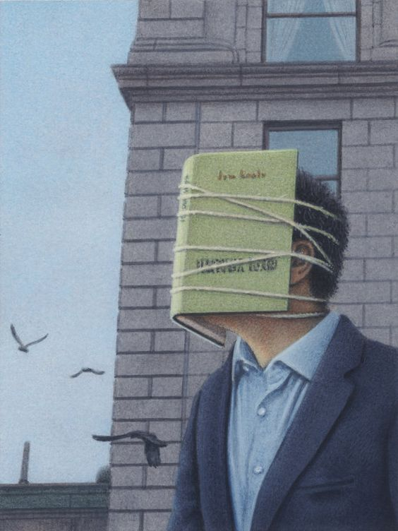 Surreal book painting