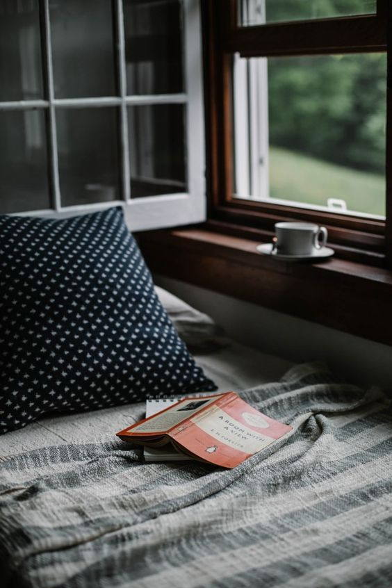 Book on a blanket