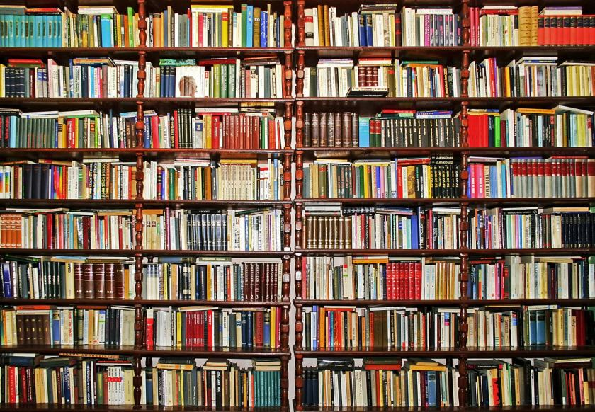 Bookcase backdrop